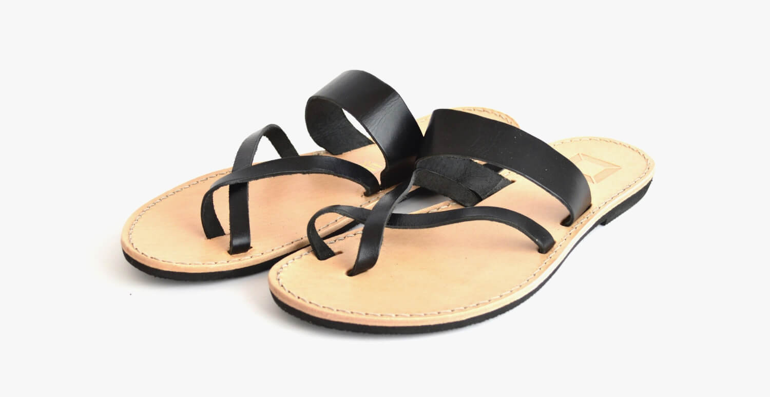 23 Black Sandalen Unisex von SORBAS Shoes
