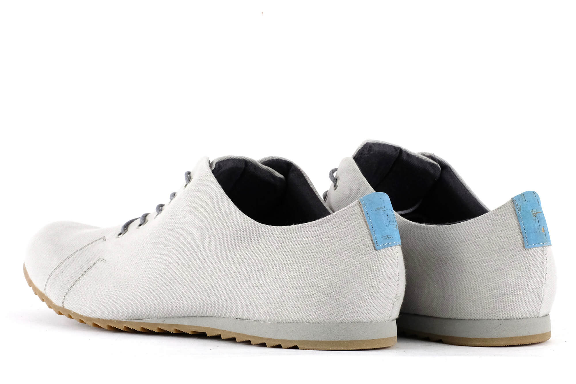 '53 Light Grey + Azul Canvas Sneaker Unisex von SORBAS Shoes