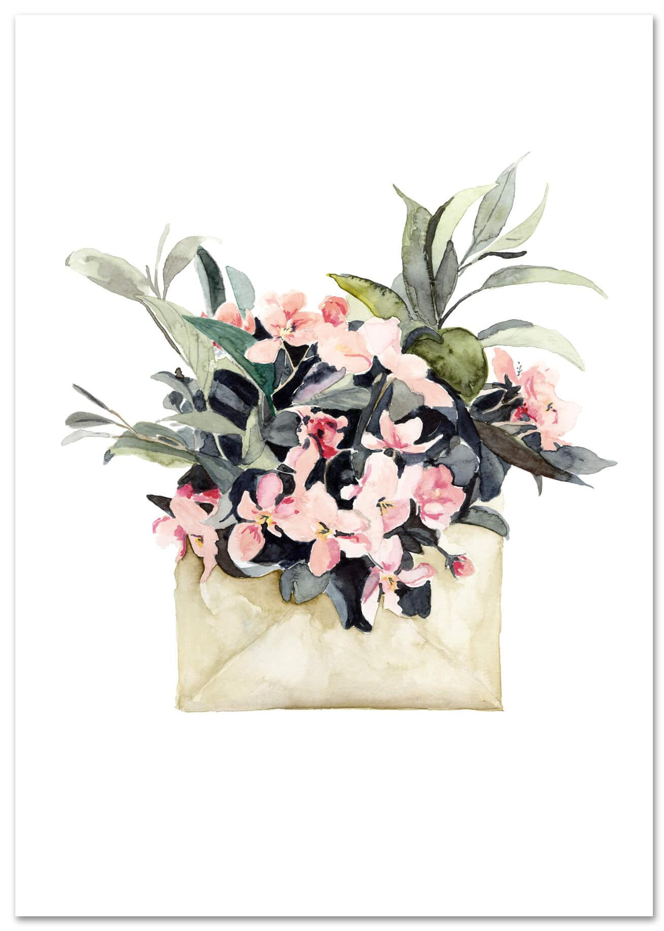 Flower Envelope von Leo la Douce